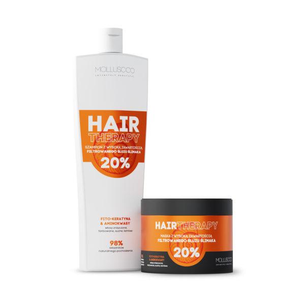 Zestaw szampon & maska do włosów